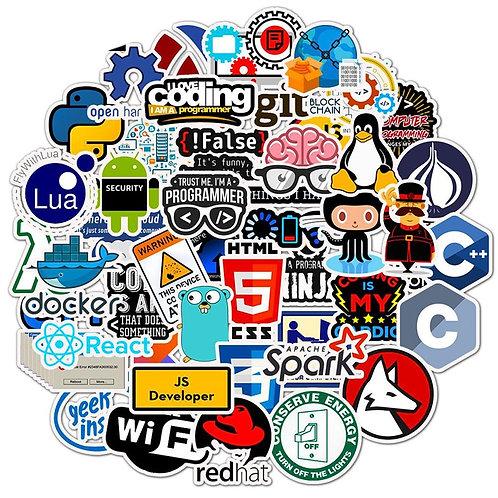 50 PCS  Geek Stickers