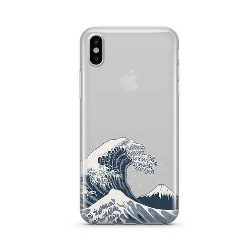 Japanese Wave - Clear TPU Case Cover