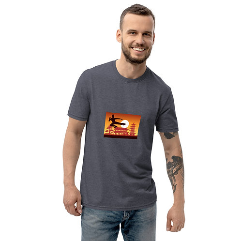 Kick-boxer recycled t-shirt