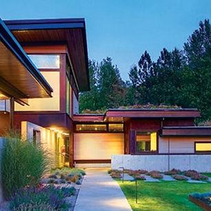 green roof modern house Missoula