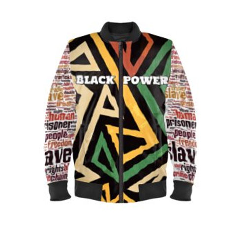Black Power Bomber Jacket
