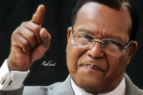 Louis Farrakhan Canvas