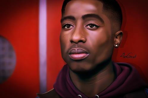 Tupac- Bishop Canvas