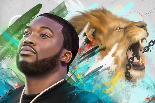 Meek Mill Canvas