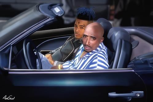 XXXTENTACION & Tupac Canvas
