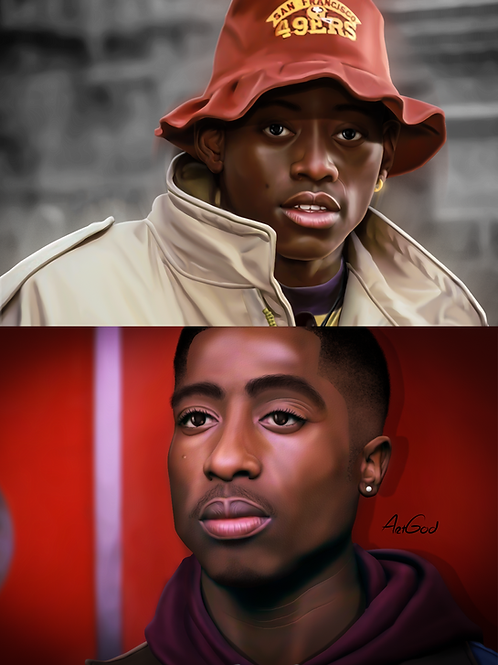 Big size Q/Tupac-Juice Canvas