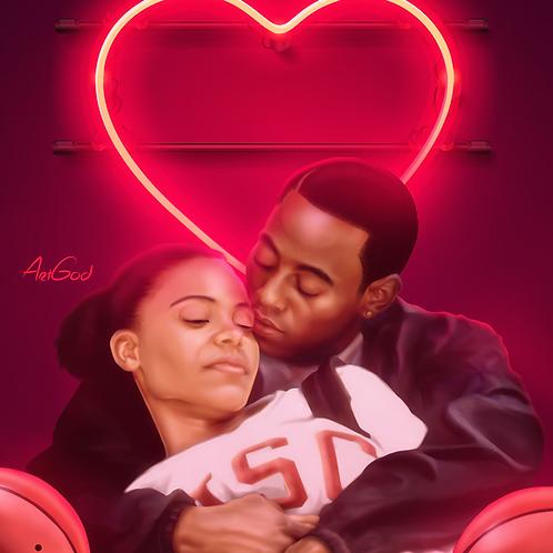 Love N Basketball Canvas