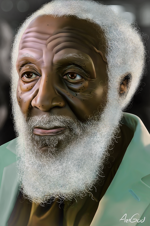 Dick Gregory Canvas