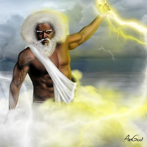 Black Zeus Canvas