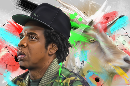 Jay-Z Goat Canvas