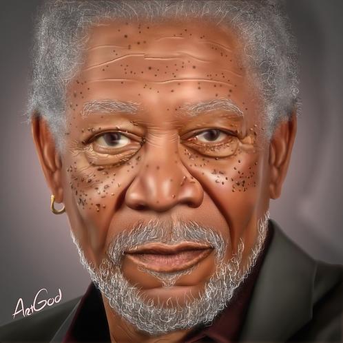 Morgan Freeman Canvas