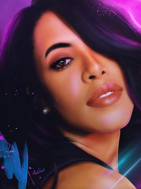 Aaliyah Canvas