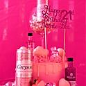 Pink Gin Drip Cake
