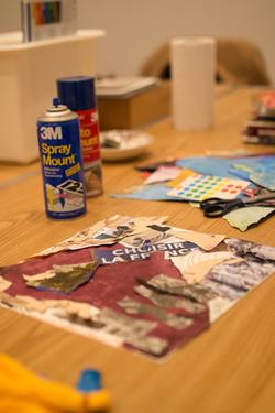 Collage making workshop!
