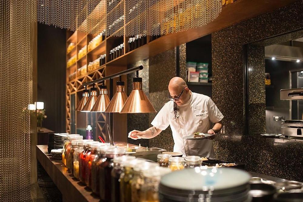 man in a mumbai restaurant