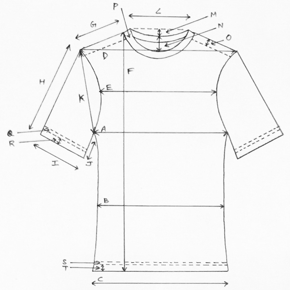drawing of a t-shirt