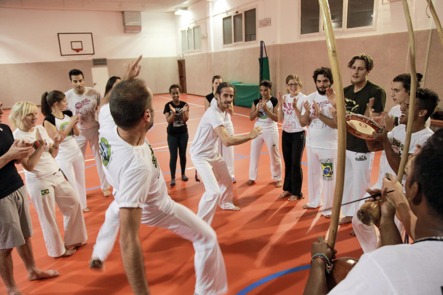 Roda Capoeira Trento Davide e Okinaw