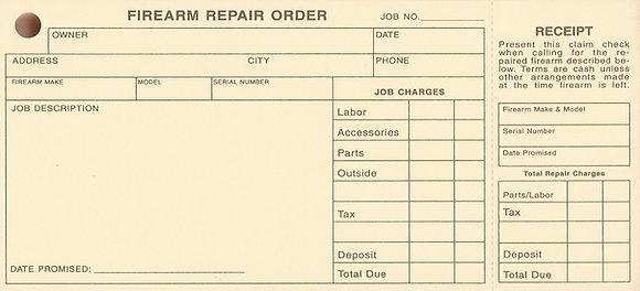 Firearm Repair Order Tags