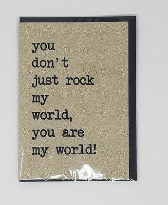 Rock my World Card from Orea