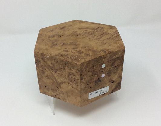 Small Hexagonal Burr Oak Box by Andrew Poder