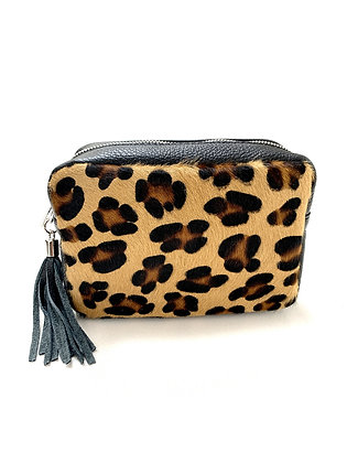 Leopard Leather box bag by Olive & Me