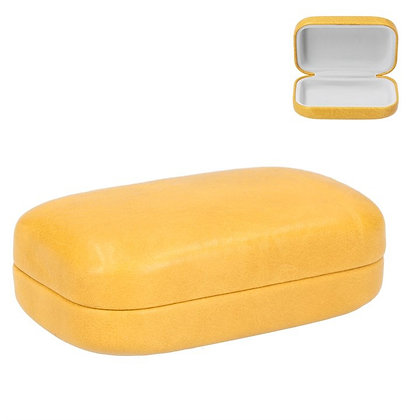 Faux Leather Head Phone Case - Mustard Yellow