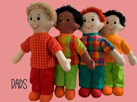"""""""Dad"""" Rag Dolls by Susie Cooper Kids"""