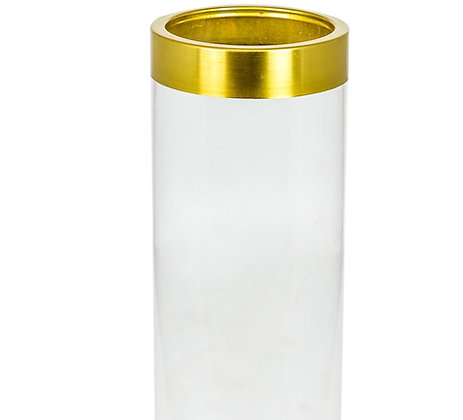 Medium Clear Glass Jar Vase