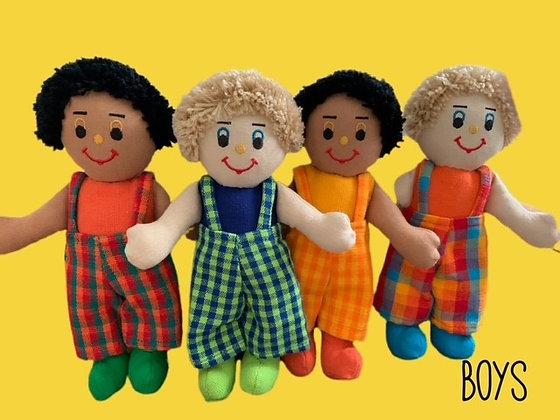 """Boys"" Rag Dolls by Susie Cooper Kids"