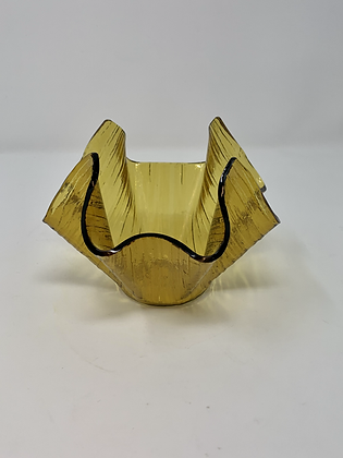 Retro Hankerchief  Amber Vase- Made by the Chance Brothers