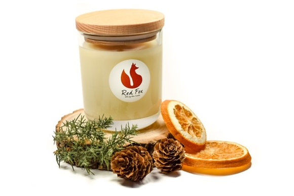 Cedarwood and Orange Candle by Red Fox
