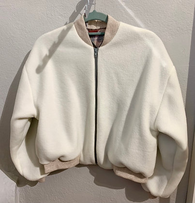 Recycled fleece bomber jacket by Shore and Pine