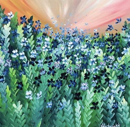 """""""Blue Meadow Flowers"""" by Amie Antoniak"""