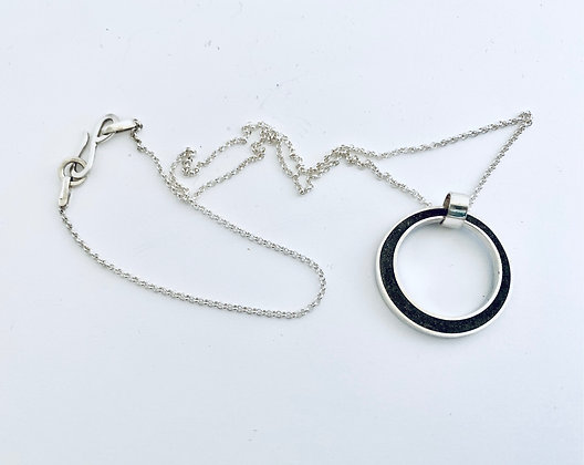 Silver  and Cement Necklace by My Silver Design