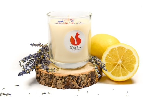 Lavender and Lemon Candle by Red Fox