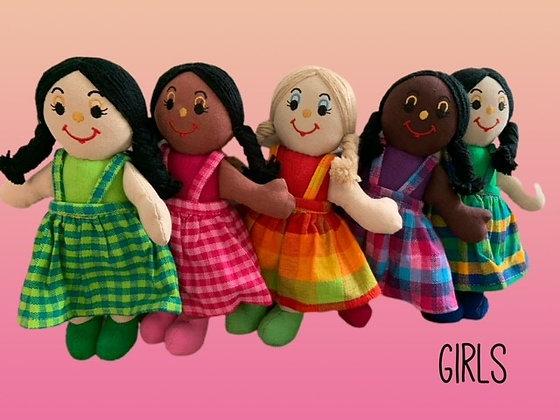 """Girl"" Rag Dolls by Susie Cooper Kids"