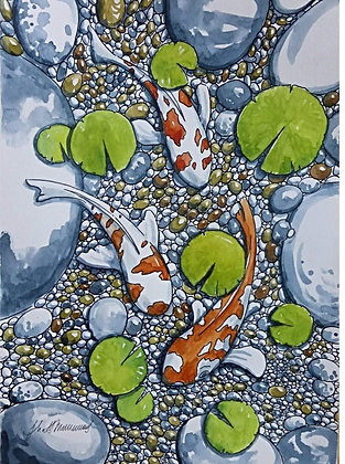 """Koi Pond"" by Judit Matthews"