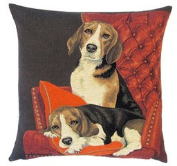 Beagles on Sofa by Susie Cooper Kids