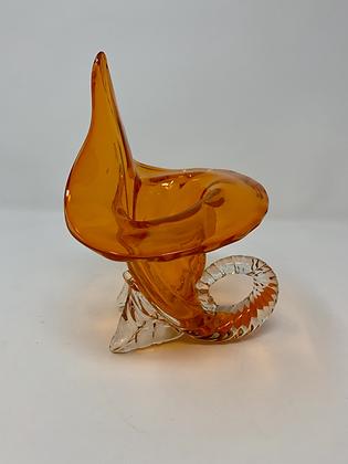 Mirano Orange Glass Vase