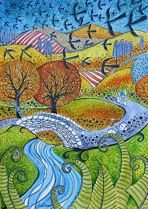 """Spring in Cumbria"" Limited Edition Print by Judit Matthews"