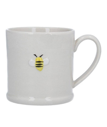 Ceramic Honey Bee Mug - White