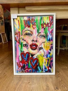 Love Art Framed Mixed Media  by Marie O'Hara