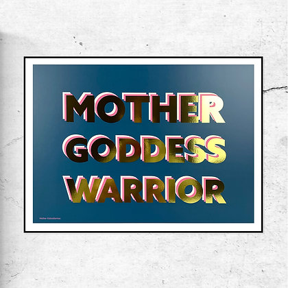 Mother, Goddess, Warrior - Blue Print by DoodleMoo