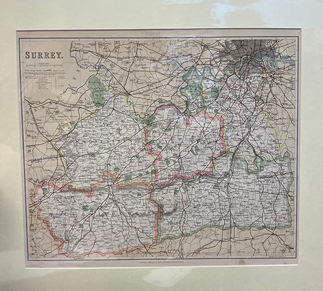 George Phillip County Map Of Surrey