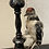 Thumbnail: Woodpecker Perched On A Candlestick Holder