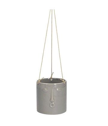 Ceramic Plant Pot Cover - Grey