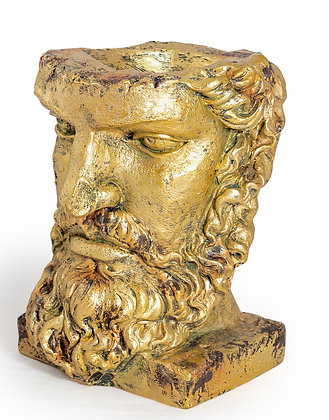 ALL ANTIQUED GOLD CLASSICAL FACE PLANTER