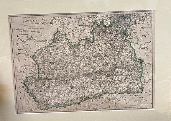 Ordanance Survey County Map Of Surrey