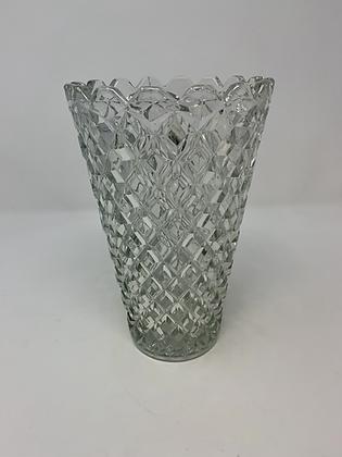 Art Deco Diamond Cut Vase