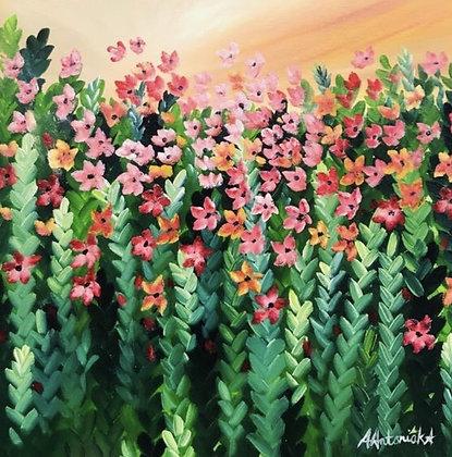 """""""Pink Meadow Flowers"""" by Amie Antoniak"""